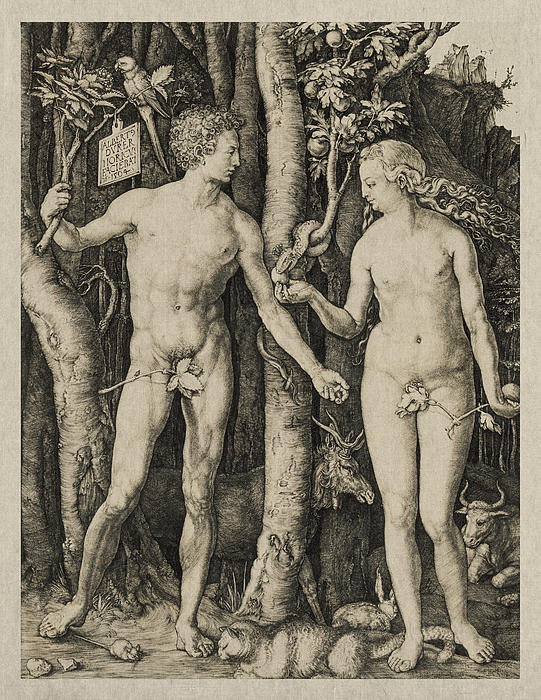 Adam And Eve Print by Aged Pixel