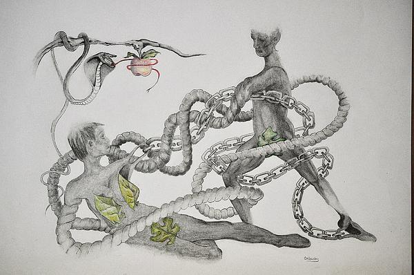 Adam And Eve Print by Glenn Calloway