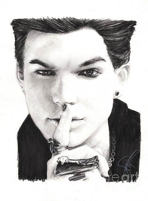 Adam Lambert Print by Rosalinda Markle