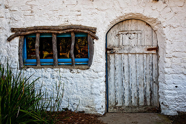 Adobe Door And Window Print by Peter Tellone