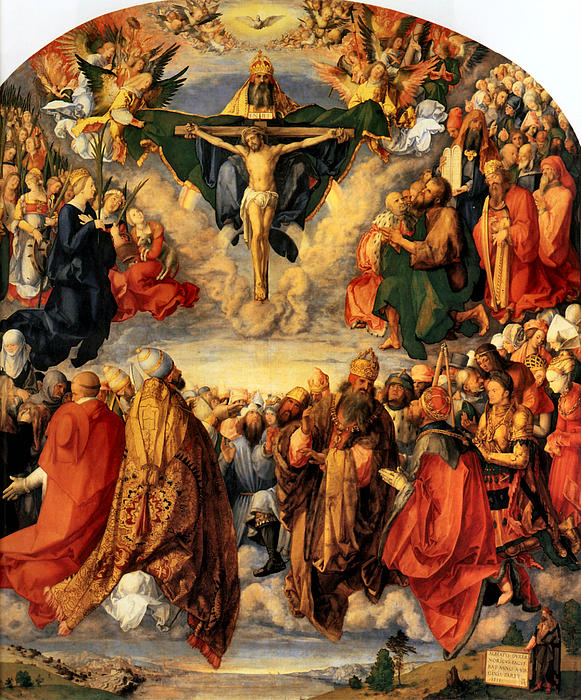 Adoration Of The Trinity Print by Albrecht Durer