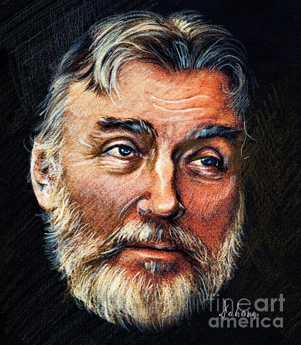 Adrian Paunescu -portrait Print by Daliana Pacuraru