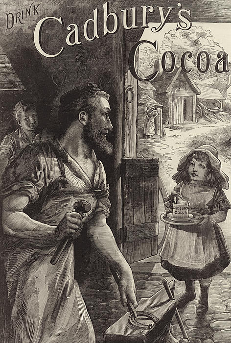 Advertisement For Cadburys Drinking Cocoa Print by English School
