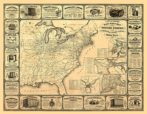Advertising Map Print by Gary Grayson