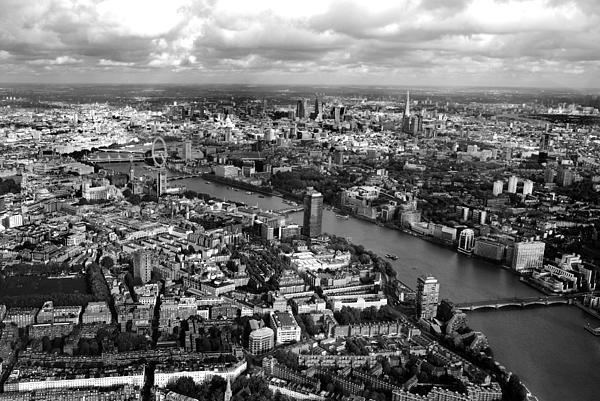 Aerial View Of London Print by Mark Rogan