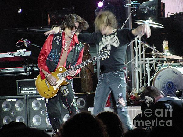 Aerosmith - Joe Perry -dsc00182-2 Print by Gary Gingrich Galleries