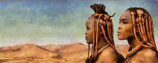 African Beauty Print by Marina Likholat