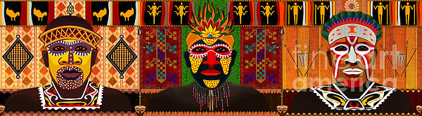 African Tribesmen Print by Bedros Awak
