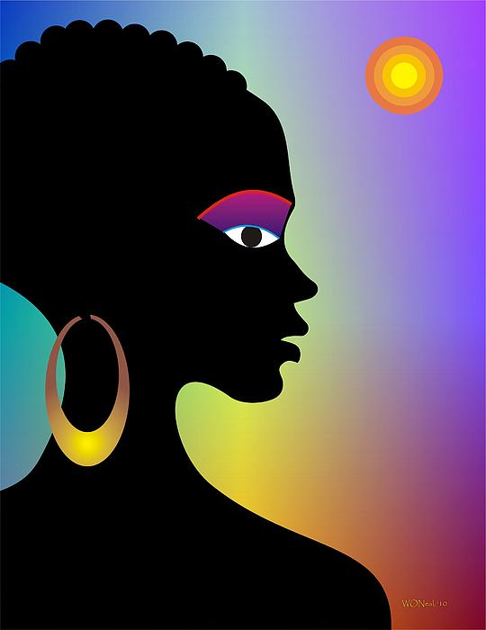 Afroette Print by Walter Oliver Neal