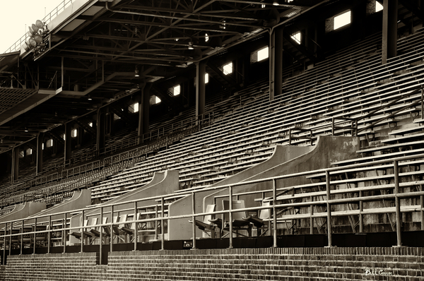 After The Game - Franklin Field Philadelphia Print by Bill Cannon