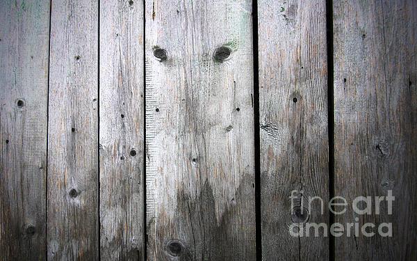 Aged Wood Boards Print by Jolanta Prunskaite