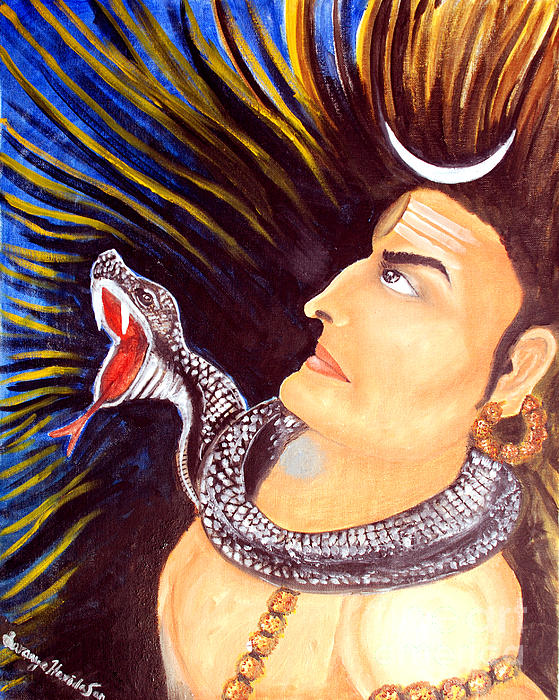 Aghora Rudra On The Night Of Shiva Print by Saranya Haridasan