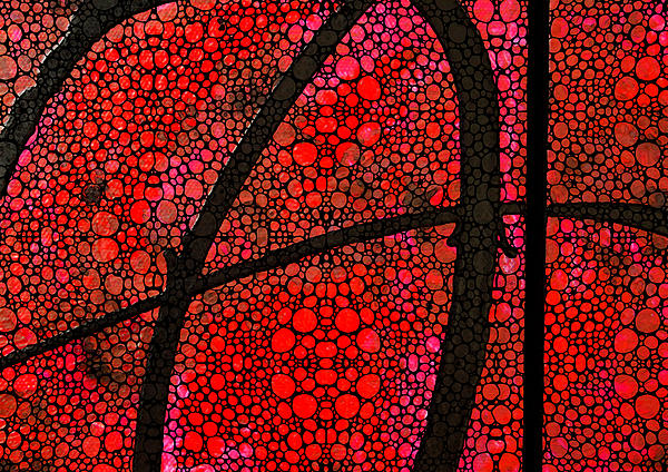 Ah - Red Stone Rock'd Art By Sharon Cummings Print by Sharon Cummings