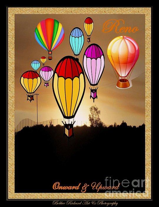 Air Balloons Reno Print by Bobbee Rickard
