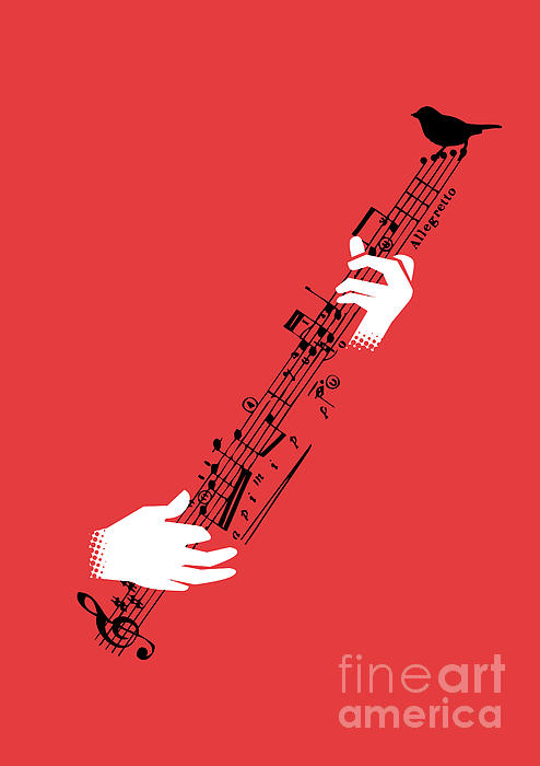 Air Guitar Print by Budi Kwan