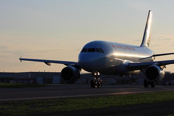 Airbus 319 Air Canada In Ottawa International Airport Yow Canada Print by Andrei Filippov