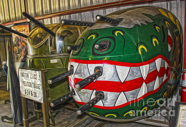 Airplane Nose Gun Turret Print by Gregory Dyer