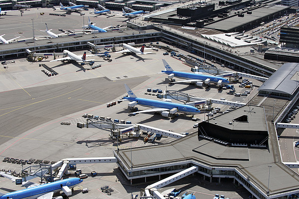 Airport Schiphol, Amsterdam Print by Bram van de Biezen