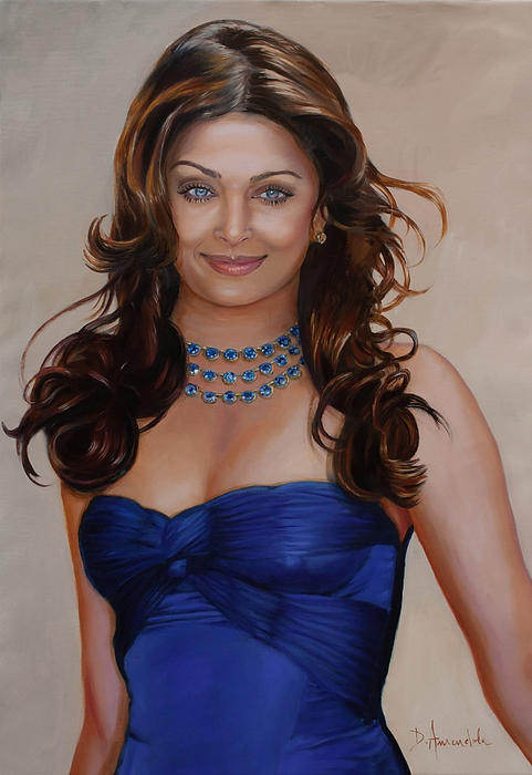 Aishwarya Rai Bachchan Print by Dominique Amendola