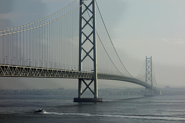 Akashi Kaikyo Bridge Posterization Print by Daniel Hagerman
