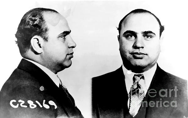 Al Capone Mug Shot Print by Unknown
