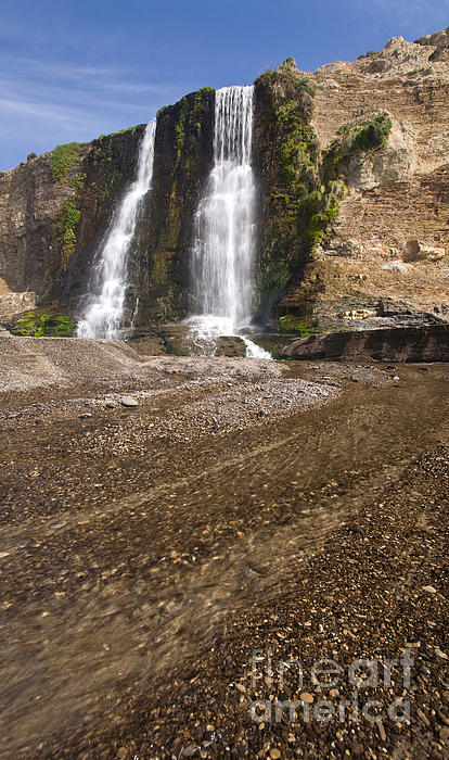 Alamere Falls On Crisp Day Print by Matt Tilghman