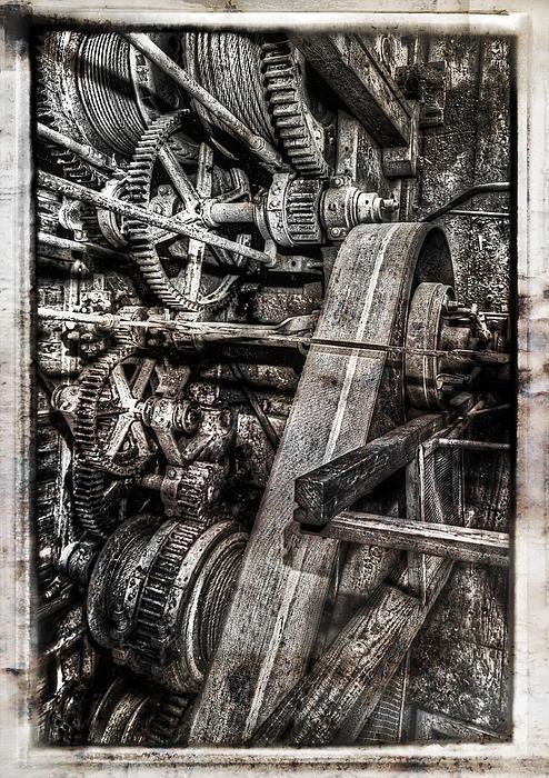 Alaskan Gold-dredge Bucket Gear Train Print by Daniel Hagerman