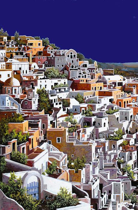 alba a Santorini Print by Guido Borelli