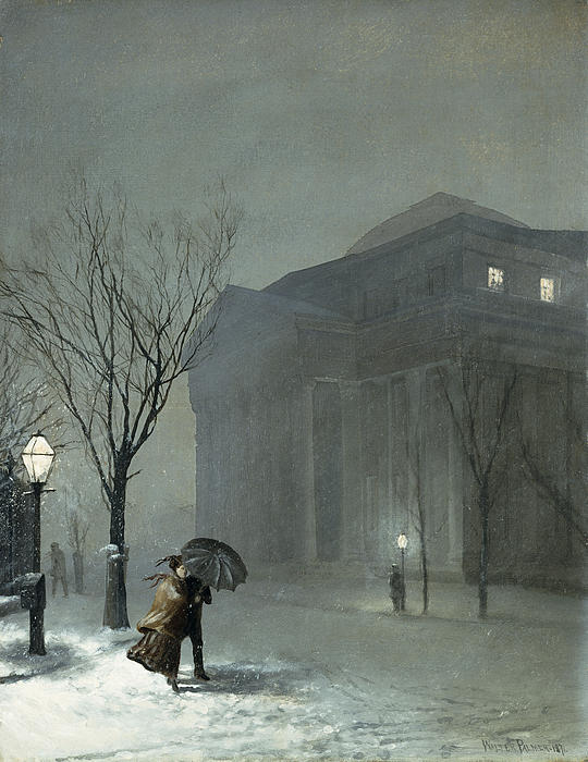 Albany In The Snow Print by Walter Launt Palmer