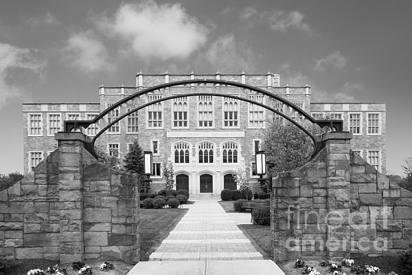 Albany Law School Gate Print by University Icons