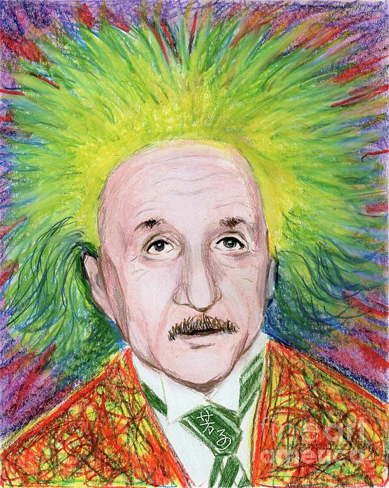 Albert Einstein Print by Yoshiko Mishina