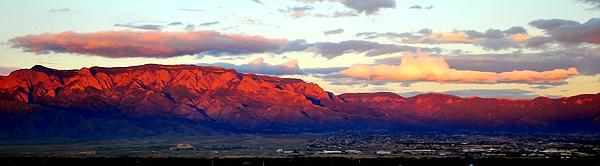 Cindy McCann - Albuquerque Sandia Mountain at Sunset