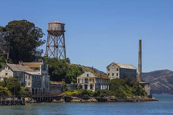 Alcatraz Dock And Water Tower Print by John McGraw
