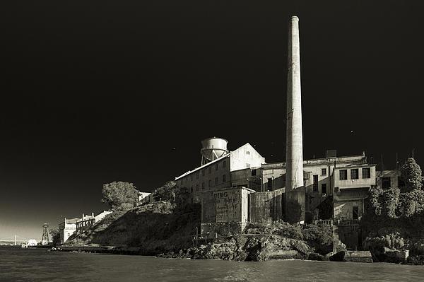 Alcatraz Stack Sepia Print by Scott Campbell