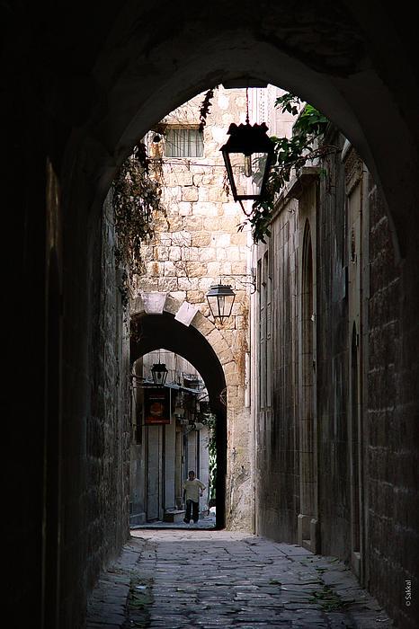 Aleppo Alleyway01 Print by Mamoun Sakkal