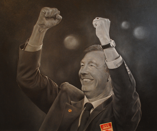 Alex Ferguson Print by David Dunne