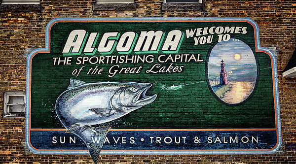 Algoma Welcomes You Print by Joan Carroll