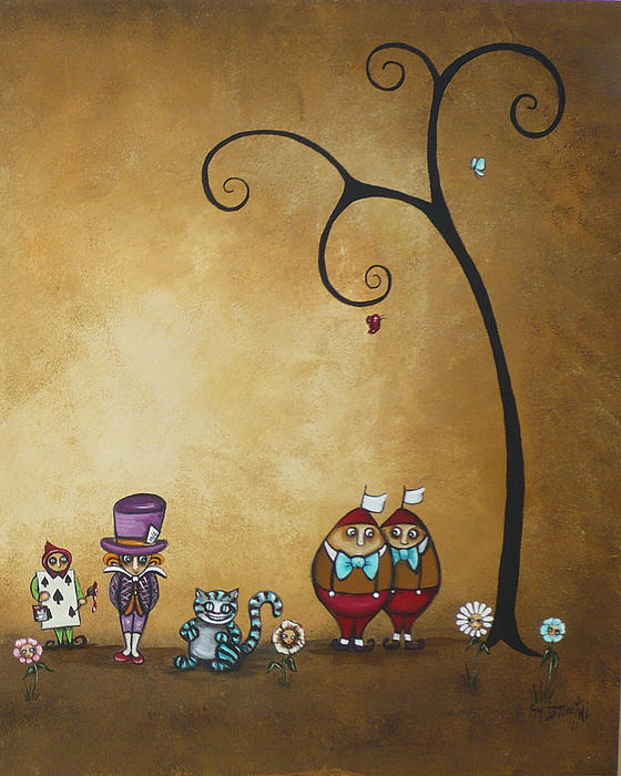 Alice In Wonderland Art - Encore - II Print by Charlene Zatloukal