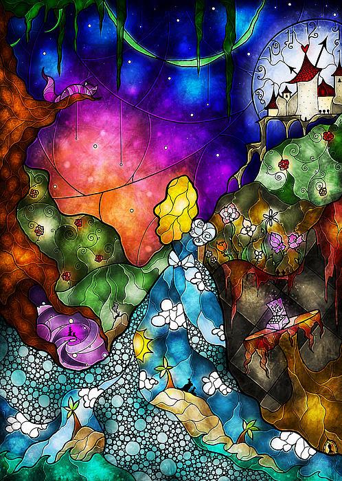 Alice's Wonderland Print by Mandie Manzano