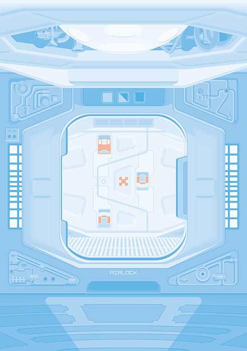 Alien 1979 Poster - Airlock Print by Peter Cassidy