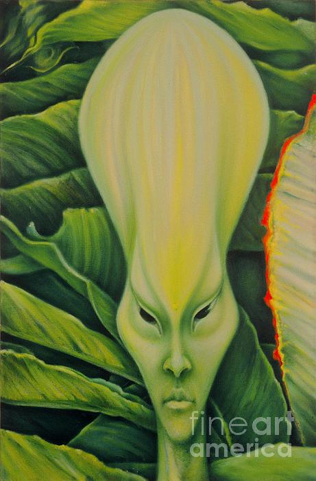 Alien Print by Rene Holovsky