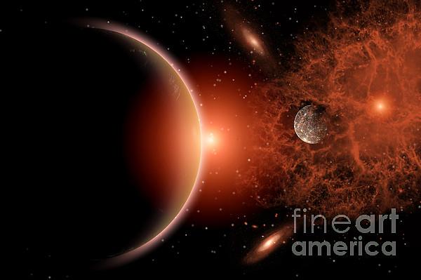 Alien Sunrise On A Distant Alien World Print by Mark Stevenson