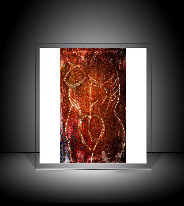 Alien Torso On Display Print by M and L Creations