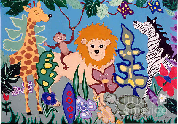 All Creatures Great And Small Print by Joyce Gebauer
