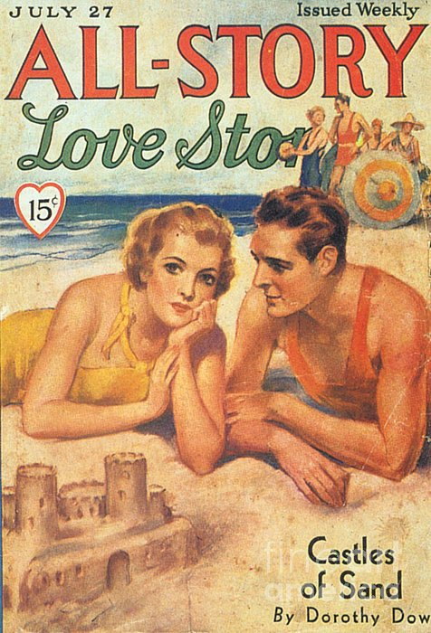 All-story 1920s Usa Holidays Love Print by The Advertising Archives