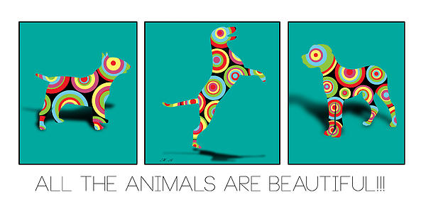 All The Animal Are Beautiful Print by Mark Ashkenazi