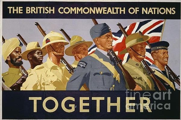 All The Commonwealth Countries Unite. Print by Paul Fearn