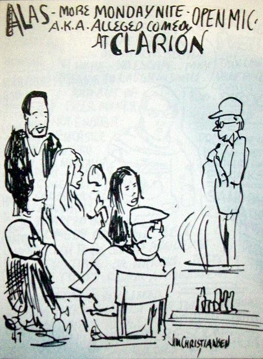 Alleged Comedy At Clarion Modesto  Print by James  Christiansen