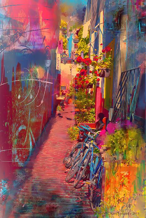 Alley In Poulsbo Print by Kari Nanstad