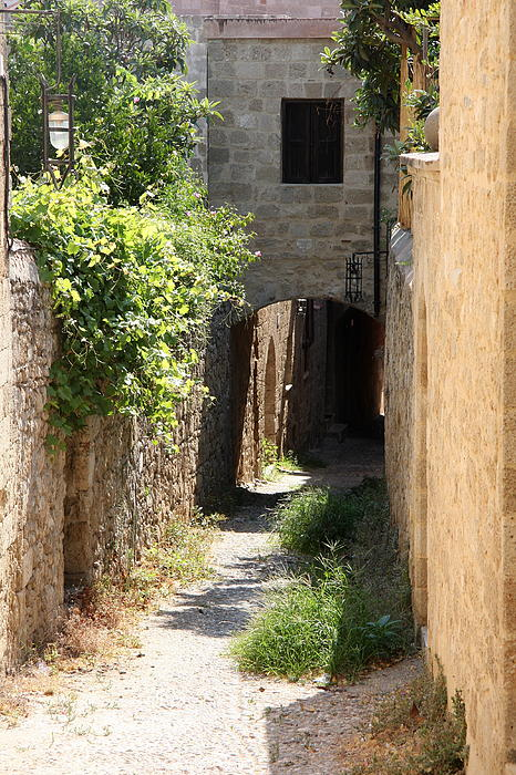 Alley In Rhodos Print by Christiane Schulze Art And Photography